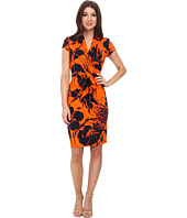 Adrianna Papell - Cap Sleeve Wrap Printed Dress