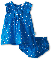 le top - Wildflower Gauze Dot Dress and Panty w/ Pin-Tucked Yoke (Newborn/Infant)