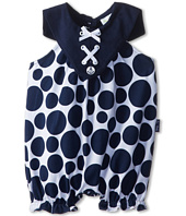 le top - Sail Away! Polka Dot Bubble w/ Laced Nautical Collar (Newborn/Infant)