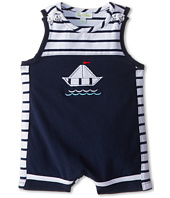 le top - Sail Away! Sleeveless Pieced Romper Sailboat (Newborn/Infant)