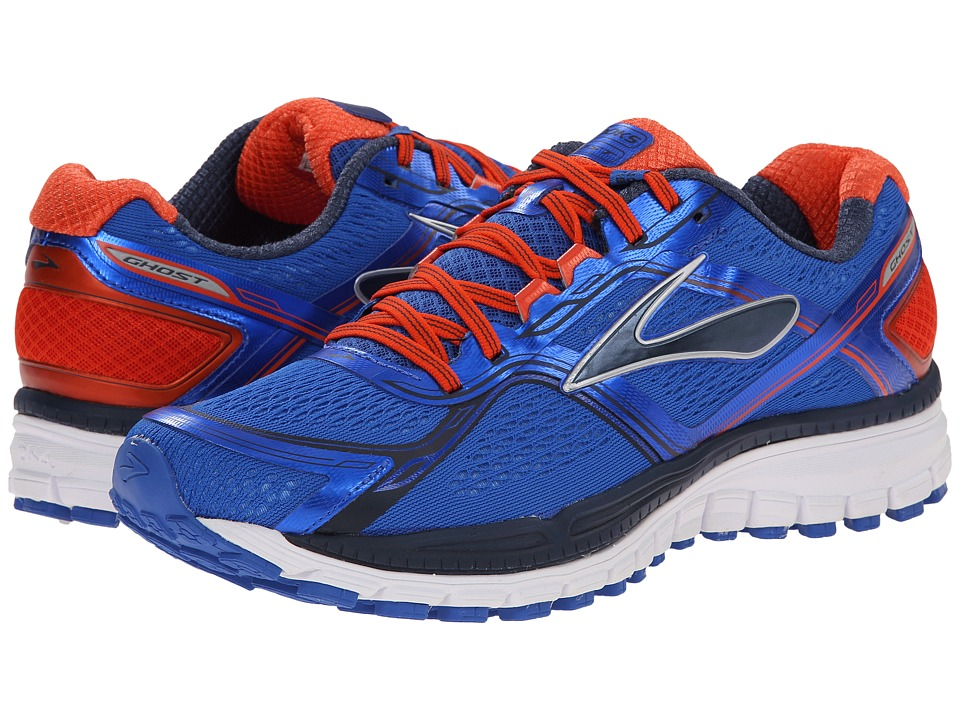Brooks Ghost 8 Electric Brooks/Spicy Orange/Dress Blues Mens Running Shoes