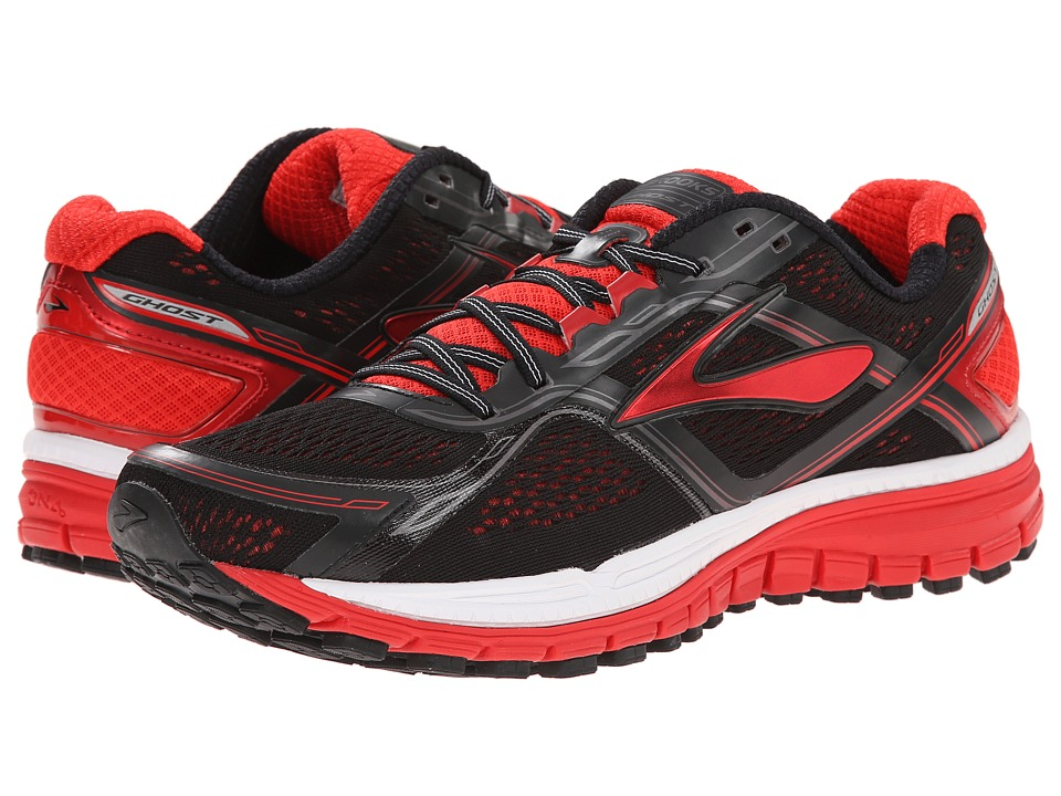 Brooks Ghost 8 Black/High Risk Red/Silver Mens Running Shoes