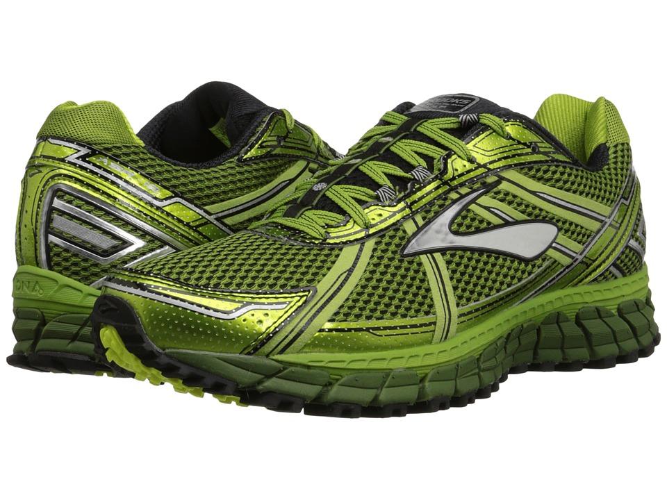 Brooks Adrenaline ASR 12 Avocado/Black/Green Garden Mens Running Shoes