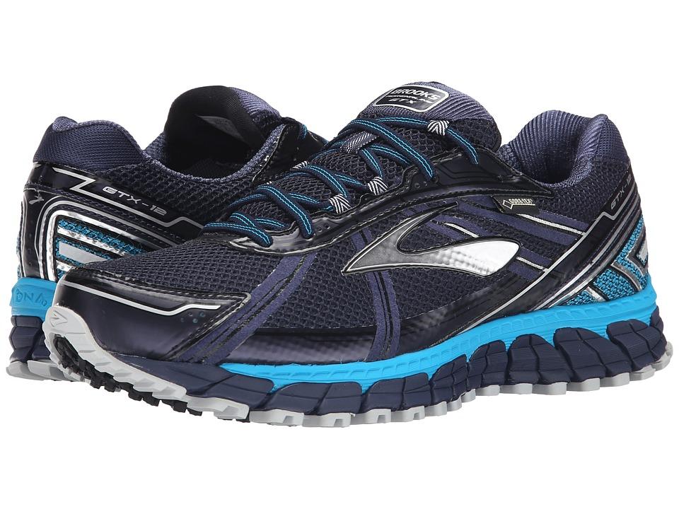 Brooks Adrenaline ASR 12 GTX Peacoat/Atomic Blue/Black Mens Running Shoes
