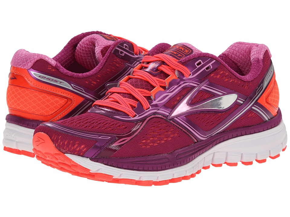 Brooks Ghost 8 Phlox/Phlox Pink/Fiery Coral Womens Running Shoes