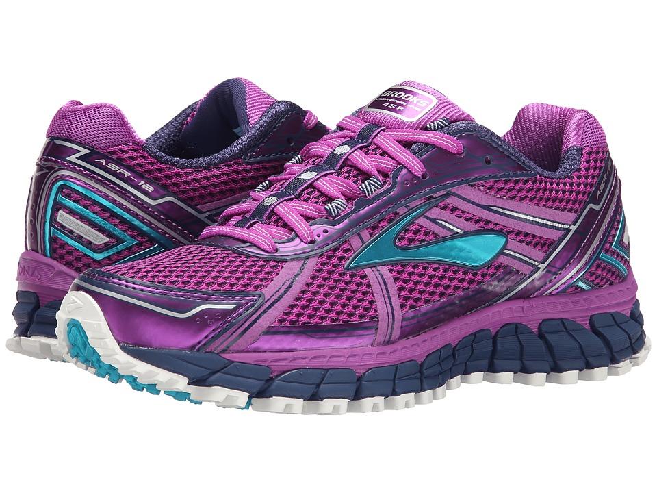 Brooks Adrenaline ASR 12 Purple Cactus Flower/Bluebird/Blue Print Womens Running Shoes