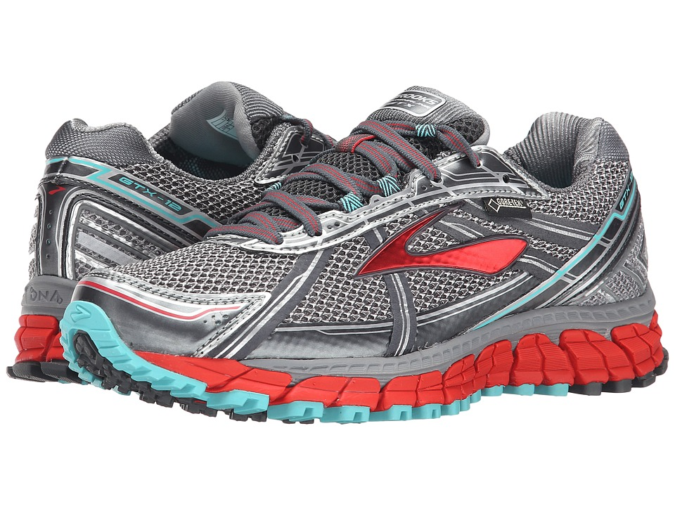 Brooks Adrenaline ASR 12 GTX Anthracite/Hibiscus/Capri Womens Running Shoes
