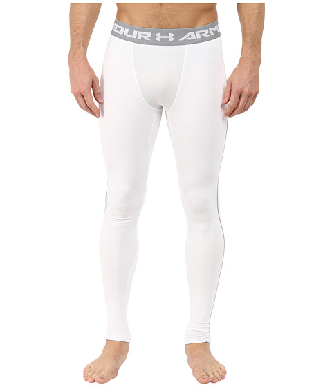 Under Armour UA Coldgear® Armour® Compression Legging - White/Steel