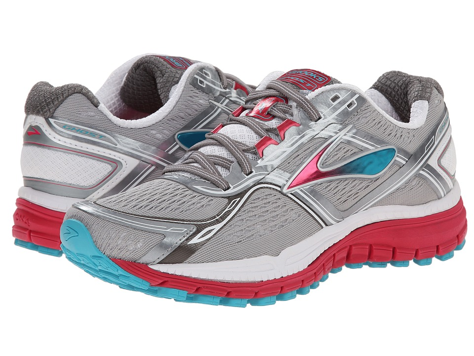 Brooks Ghost 8 Metallic Charcoal/Hyacinth Violet/Virtual Pink Womens Running Shoes