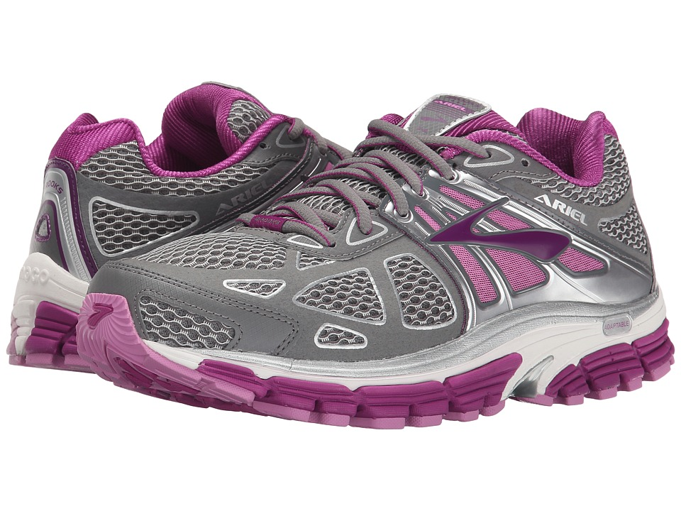 Brooks Ariel 14 (Smoked Pearl/Hollyhock/Violet) Women