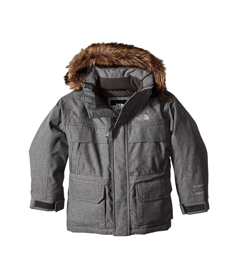 The North Face Kids McMurdo Down Parka (Little Kids/Big Kids) (Charcoal Grey Heather) Boy