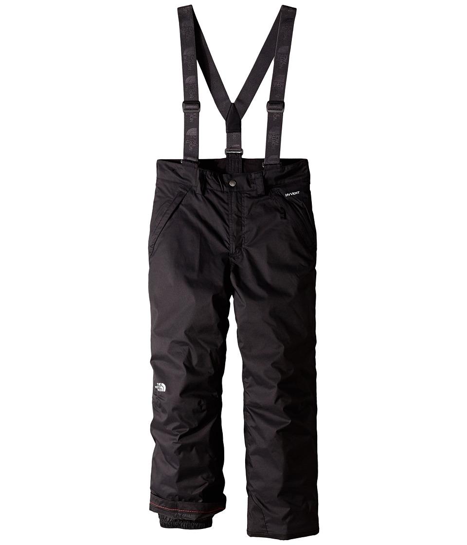 The North Face Kids Snowquest Suspender Pants Little Kids/Big Kids TNF Black Boys Outerwear