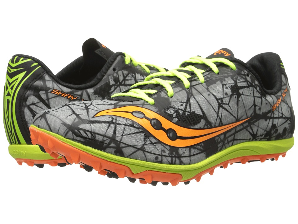 Saucony - Shay XC4 Flat (Vizi Orange/Citron/Grey) Mens Running Shoes