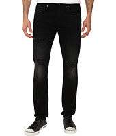 7 For All Mankind - Paxtyn Skinny w/ Clean Pocket in Destroyed Black