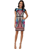 Laundry by Shelli Segal - Print Scuba Dress with Sold Blocking