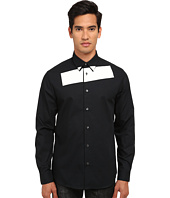 McQ - Stipe Long Sleeve Tux Button Up