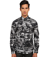McQ - Googe Long Sleeve Screen Camo Button Up