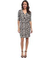 Laundry by Shelli Segal - Block Party Faux Wrap Dress