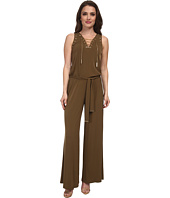 MICHAEL Michael Kors - Petite Sleeveless Lace Up Jumpsuit