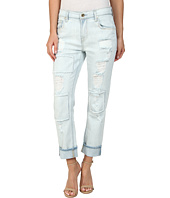 7 For All Mankind - Relaxed Skinny in Patched/Destroyed Rigid Light Blue