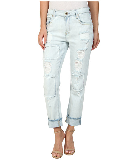 7 For All Mankind Relaxed Skinny in Patched/Destroyed Rigid Light ...