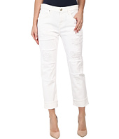 7 For All Mankind - Relaxed Skinny w/ Patches & Destroy in White Fashion 2