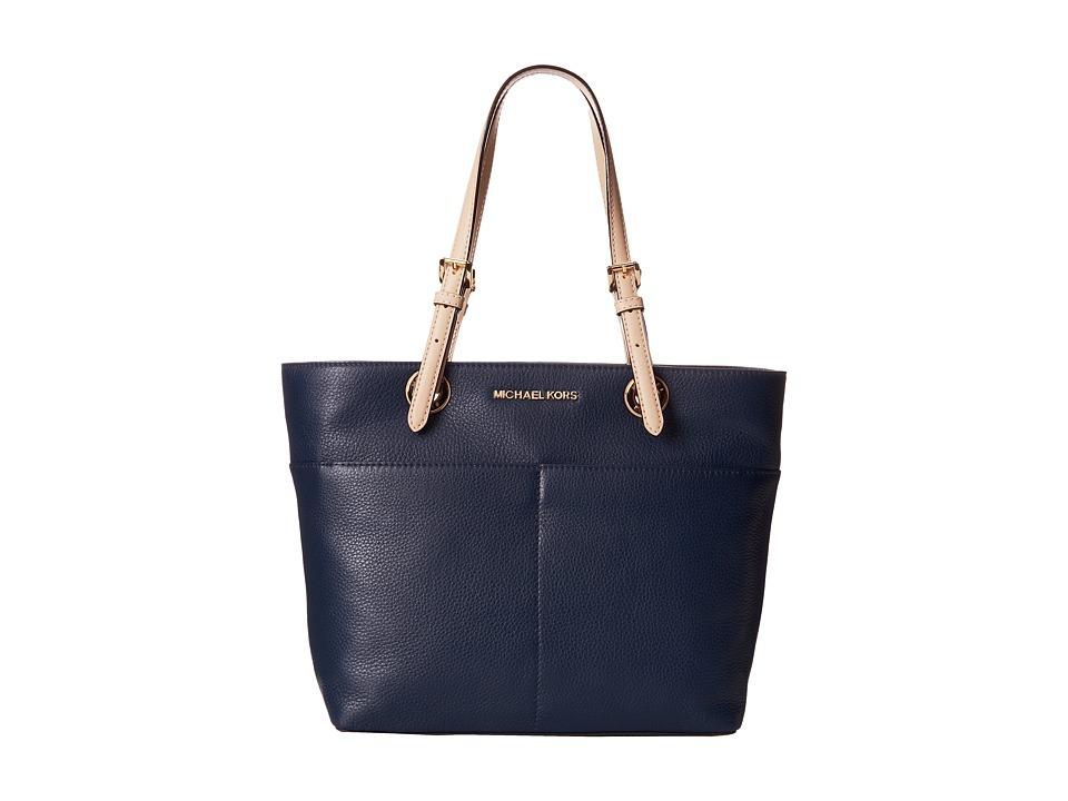 MICHAEL Michael Kors - Bedford Top-Zip Pocket Tote (Navy) Tote Handbags