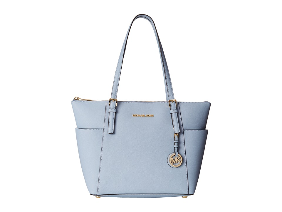 MICHAEL Michael Kors - Jet Set Saffiano Top Zip Tote (Pale Blue) Tote Handbags