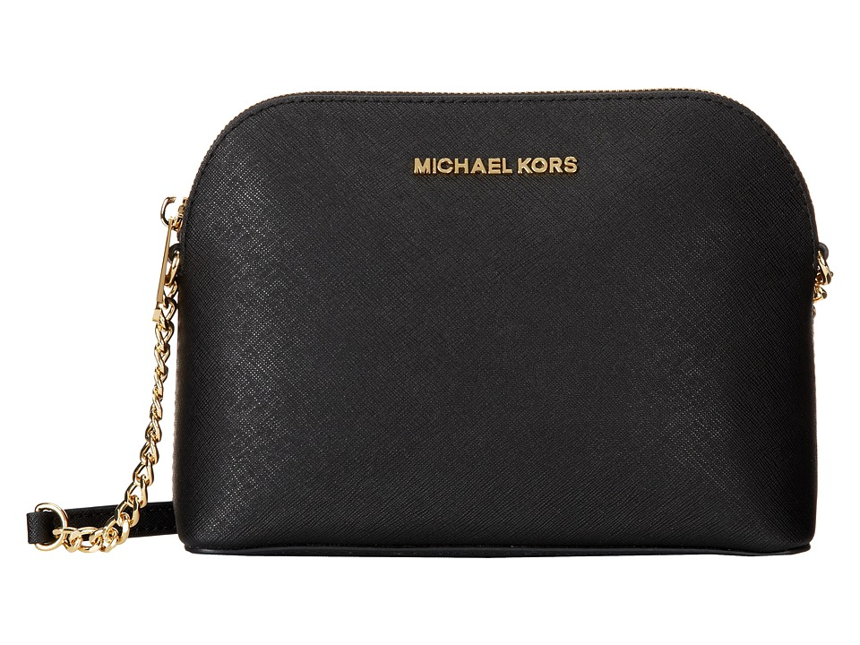 MICHAEL Michael Kors - Cindy Large Dome Crossbody (Black) Cross Body Handbags