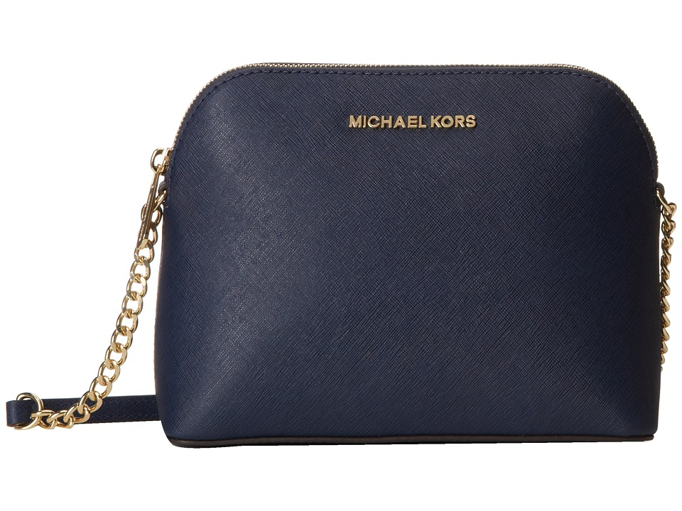 MICHAEL Michael Kors - Cindy Large Dome Crossbody (Navy) Cross Body Handbags