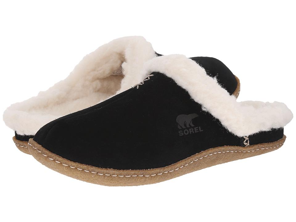 SOREL Nakiska Slide (Black/Fossil) Slippers