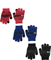 Under Armour - UA Chillz Stripe Glove 3-Pack (Youth)