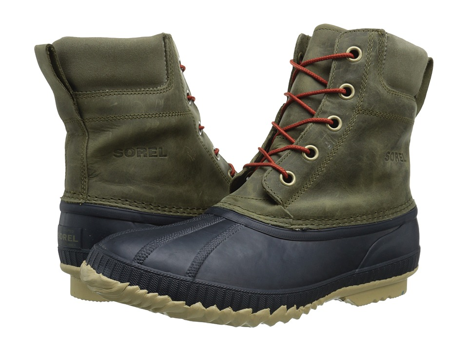 SOREL - Cheyannetm Lace Full Grain (Sage/Sanguine) Mens Cold Weather Boots