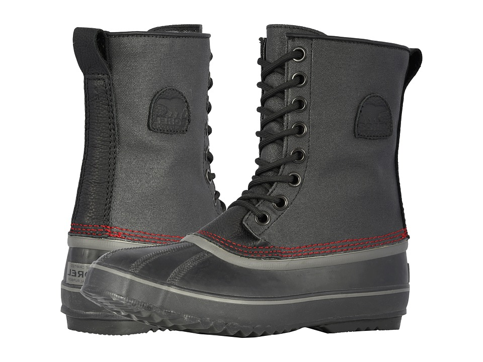 SOREL 1964 Premium T CVS Black/Sail Red Mens Cold Weather Boots