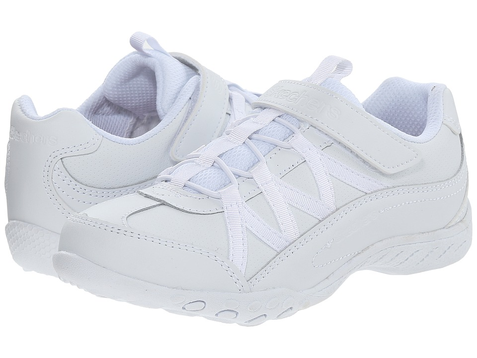 SKECHERS KIDS Breathe Easy 82298L Little Kid/Big Kid White Girls Shoes