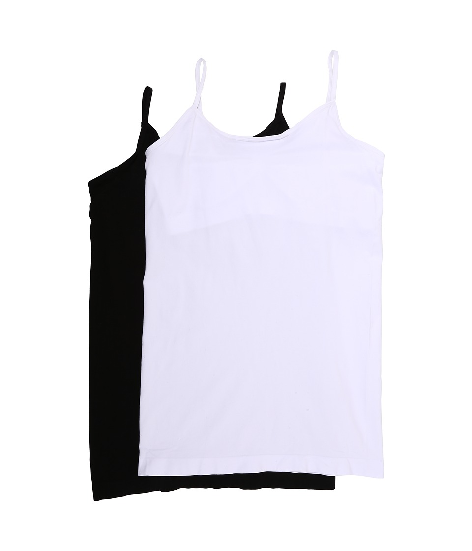 Coobie Cami with Shelf Bra 2 Pack Black/White Womens Sleeveless