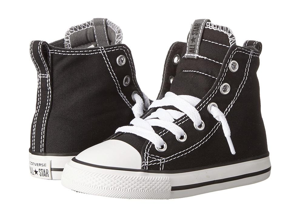 Converse Kids - Chuck Taylor All Star Slip It Hi (Infant/Toddler) (Black/Thunder/White) Boys Shoes
