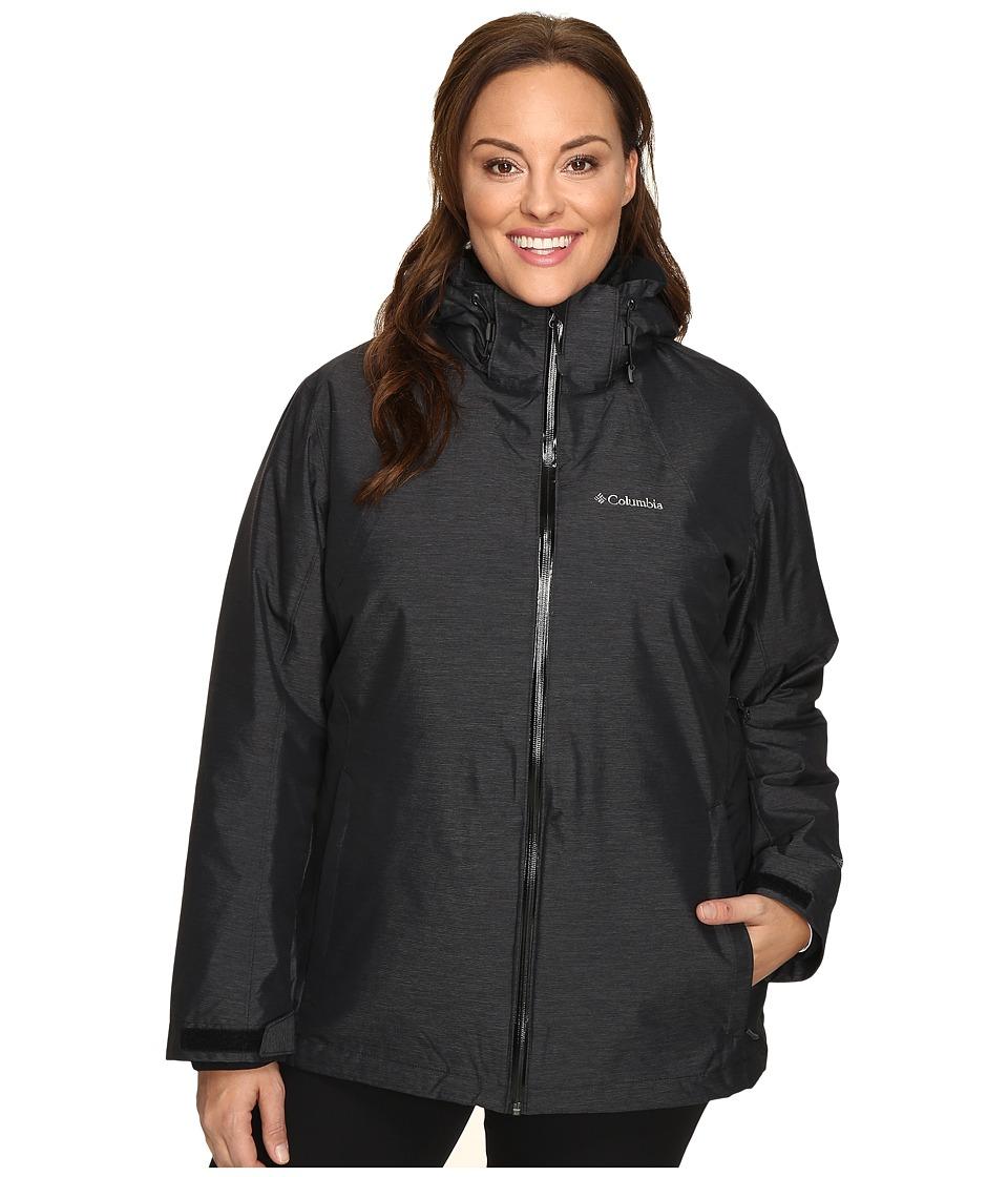 Columbia Plus Size Whirlibirdtm Interchange Jacket (Black Crossdye) Women