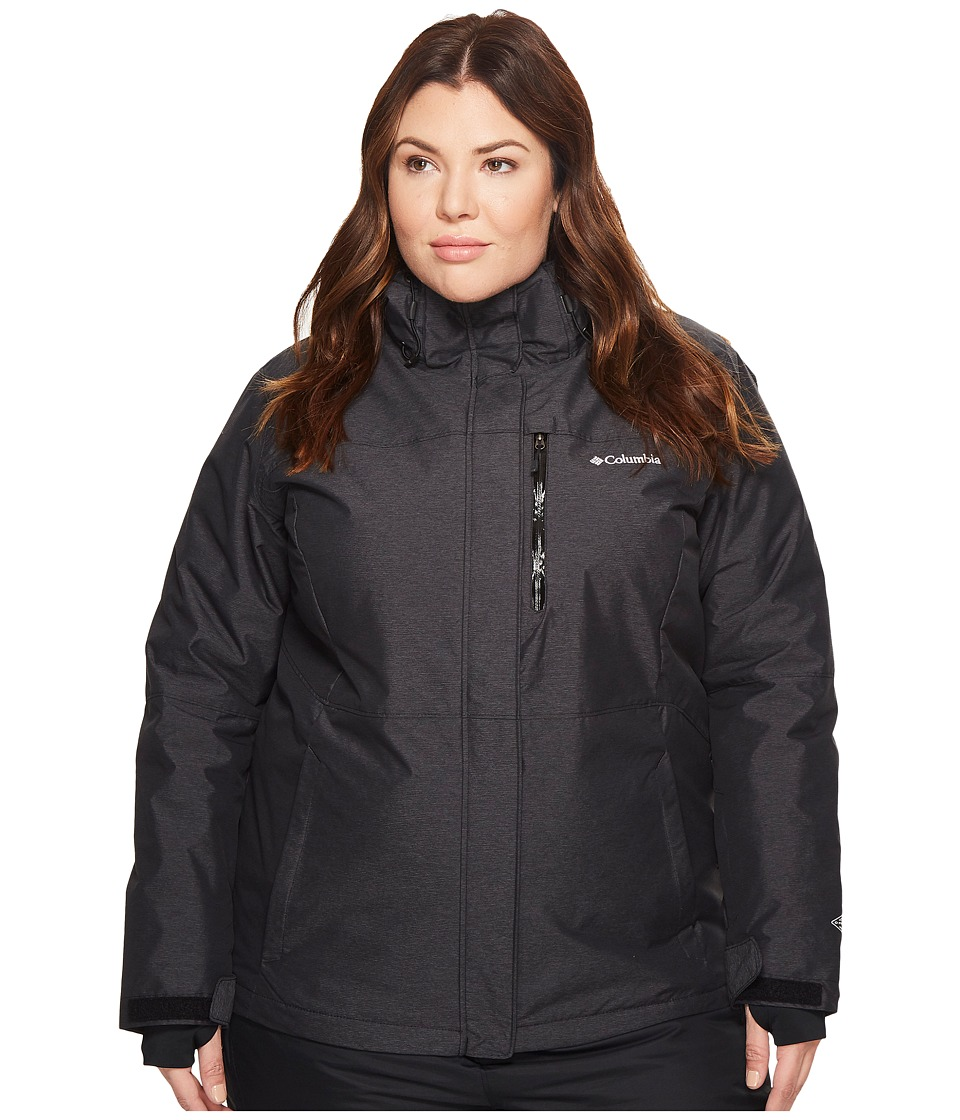 Columbia Plus Size Alpine Actiontm Omni-Heattm Jacket (Black Crossdye/Black) Women