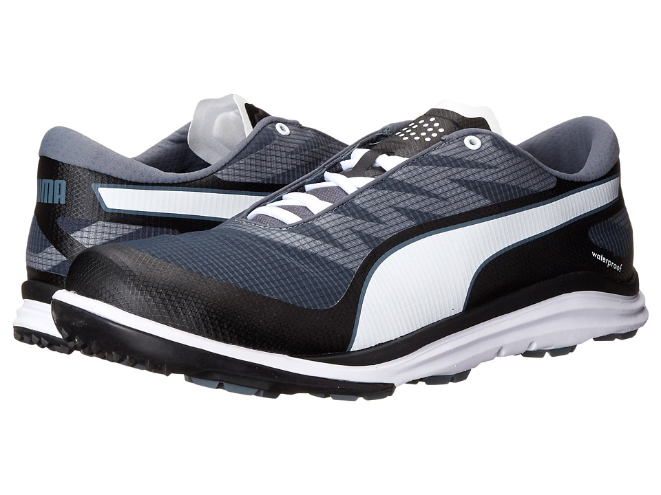 PUMA Golf Biodrive Black/White/Turbulence Mens Golf Shoes