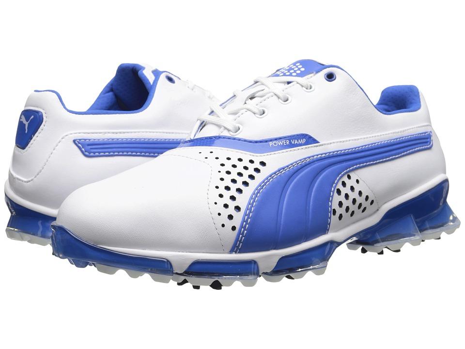 PUMA Golf - Titantour (White/Strong Blue) Mens Golf Shoes
