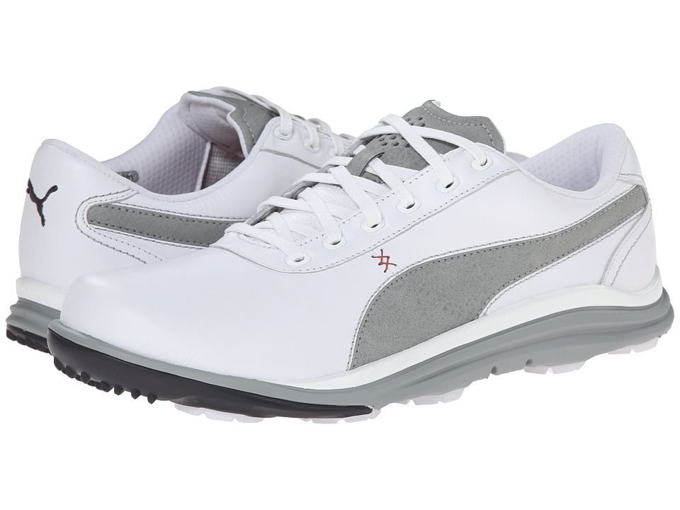 PUMA Golf - Biodrive Leather WB (White/Limestone Gray) Men