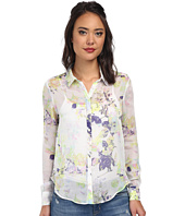 BCBGeneration - Uneven Hem Button Blouse