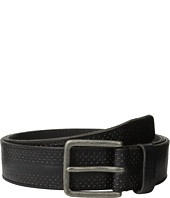 John Varvatos - 38mm Dimpled Leather Harness Buckle