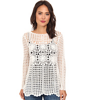 Free People - Filet Crochet Pullover