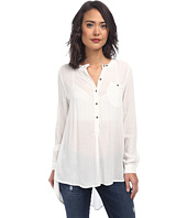 Free People - Solid Rayon Gauze Boyfriend Button Down