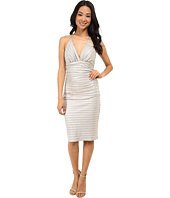 Laundry by Shelli Segal - Chain Back Metallic Cocktail Dress