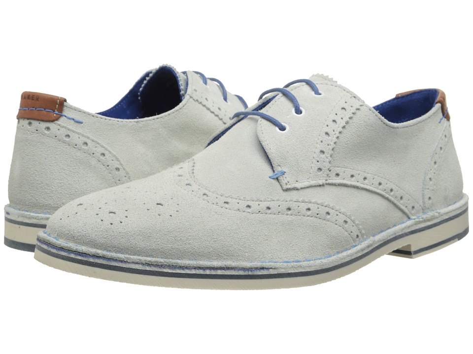 Ted Baker - Jamfro 5 White Suede Mens Shoes $155.00 AT vintagedancer.com