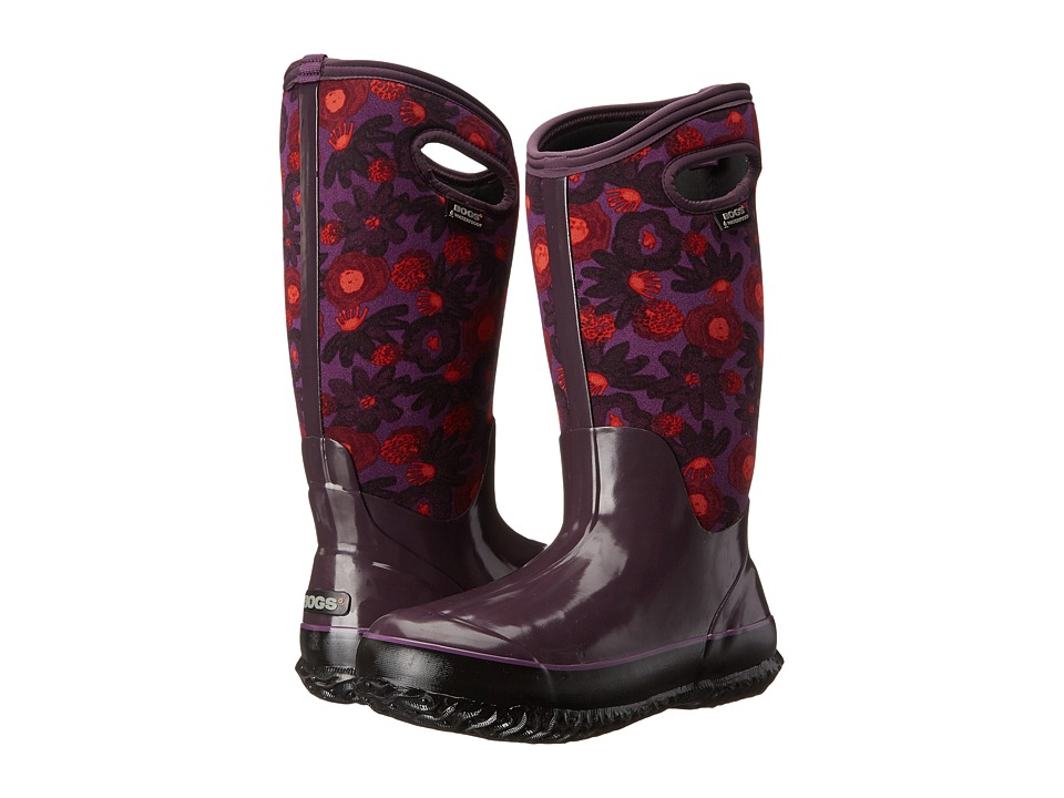 Bogs - Classic Watercolor Tall (Plum Multi) Women