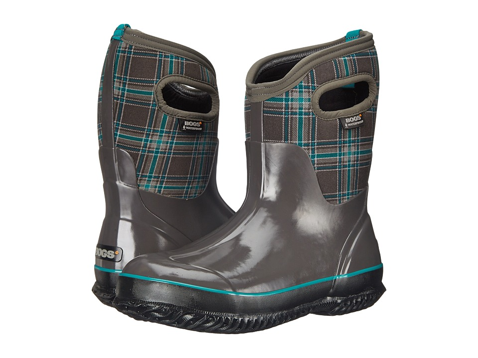 Bogs Classic Winter Plaid Mid (Dark Gray Multi) Women